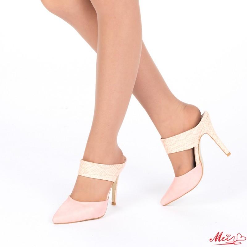 Sandale Dama cu Toc AF12 Pink Mei