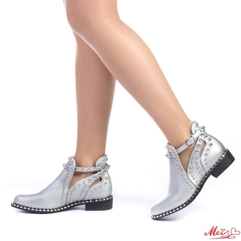Pantofi Casual Dama AF121 Silver Mei