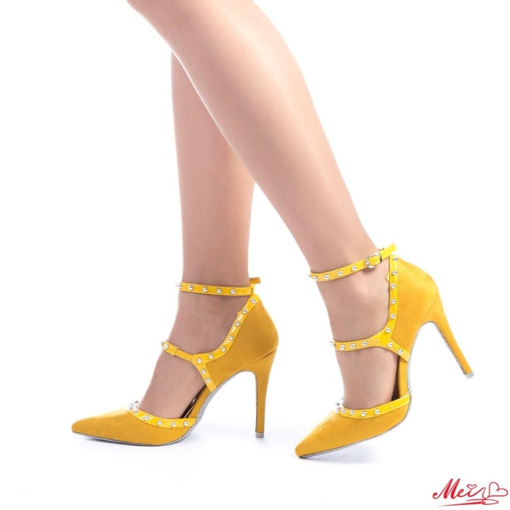 Pantofi cu Toc AF123 Yellow Mei