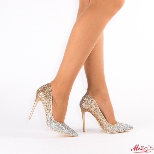 Pantofi cu Toc AF98 Champagne Mei