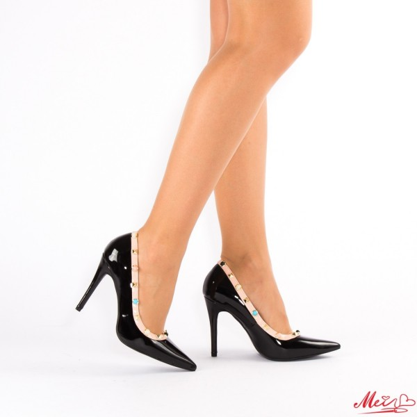 Pantofi cu Toc AF99 Black Mei