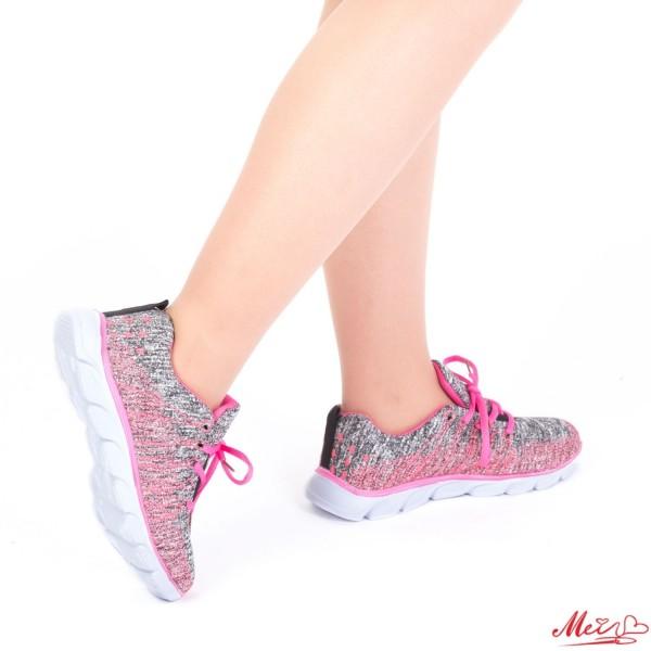 Pantofi Sport Dama C116# Grey-Fuchsia Mei