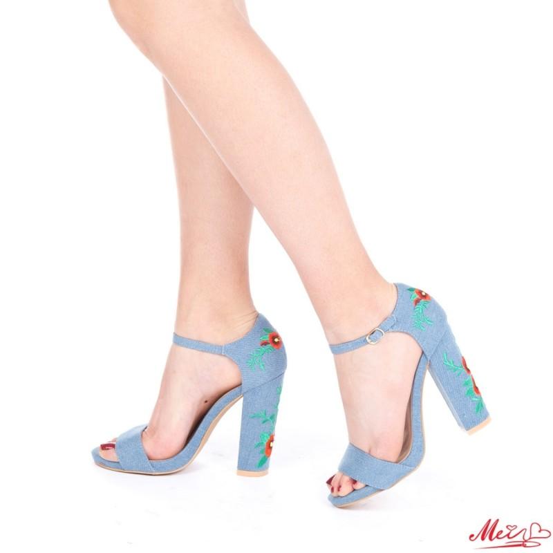 Sandale Dama cu Toc CY5 Blue Mei