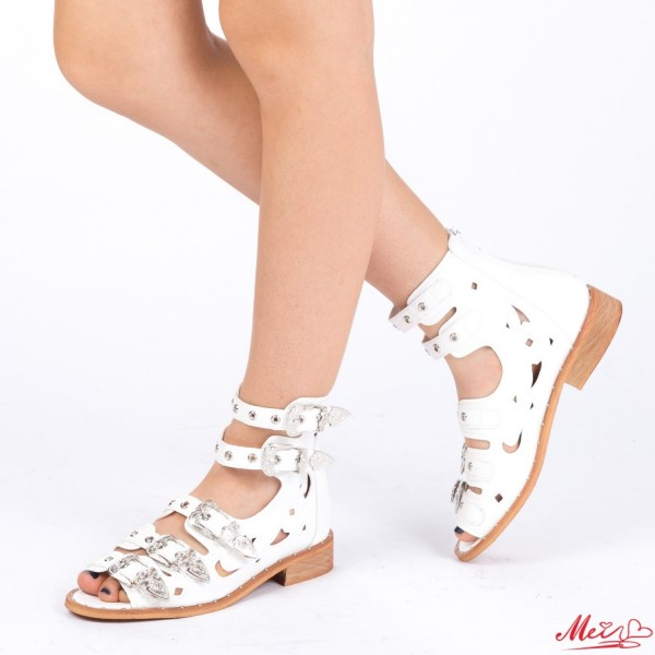 Sandale Dama FD7 White Mei