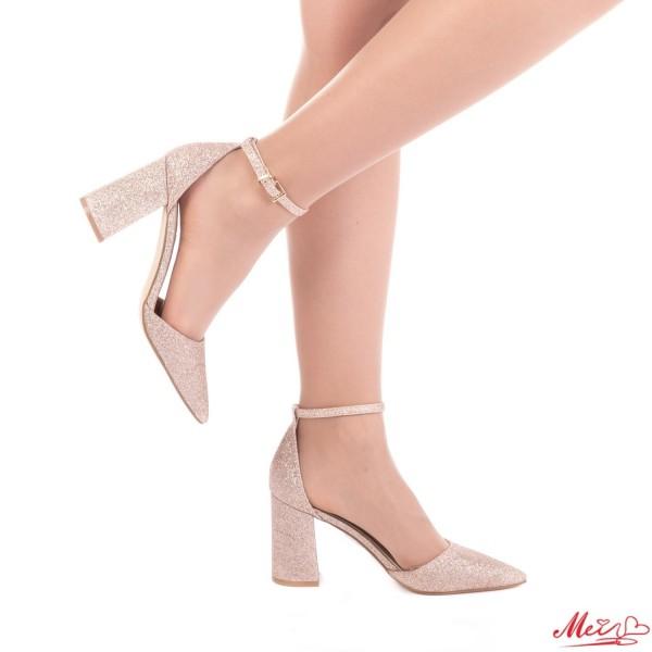 Pantofi cu Toc GE6A Gold Mei