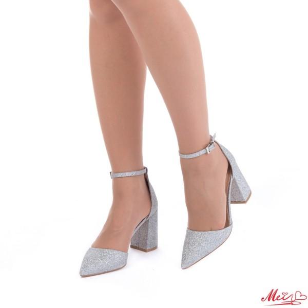 Pantofi cu Toc GE6A Silver Mei