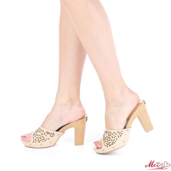 Papuci Dama cu Toc GH21 Beige Mei