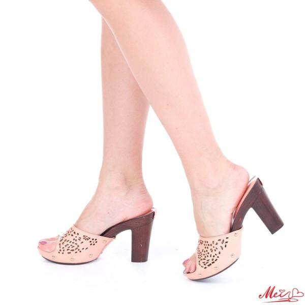 Papuci Dama cu Toc GH21 Pink Mei