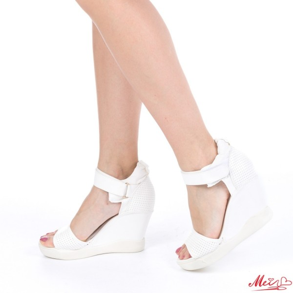 Sandale Dama cu Platforma GH32 White Mei