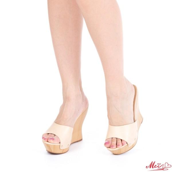 Papuci Dama cu Platforma GH7 Beige Mei
