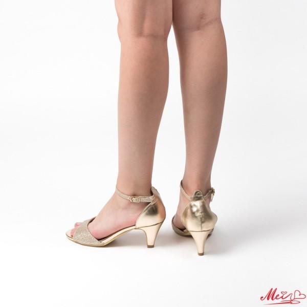 Sandale Dama cu Toc GH93 Gold Mei