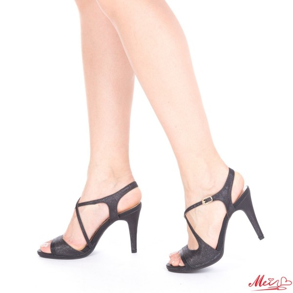 Sandale Dama cu Toc GH95 Black Mei