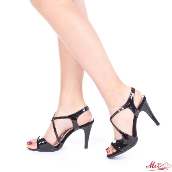 Sandale Dama cu Toc GH95A Black Mei