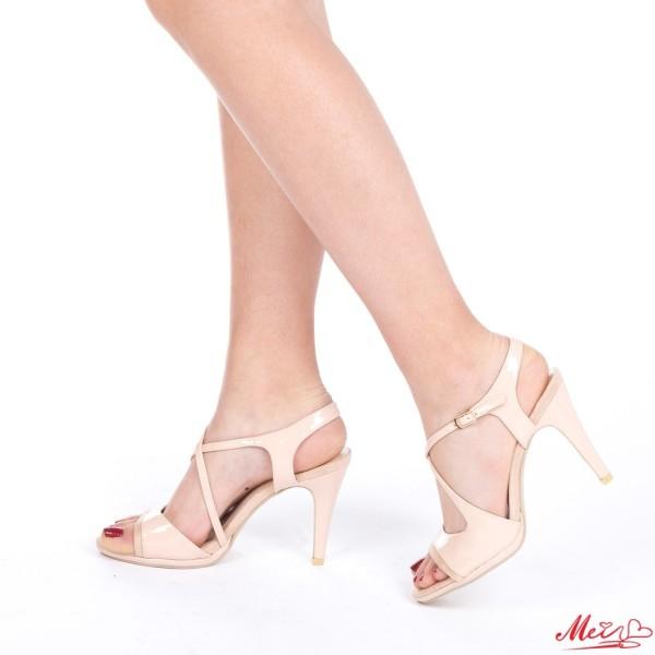 Sandale Dama cu Toc GH95A Nude Mei