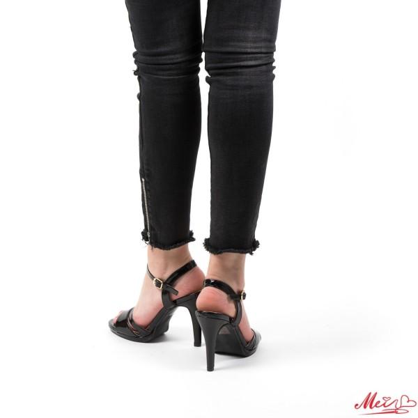 Sandale Dama cu Toc GH96A Black Mei