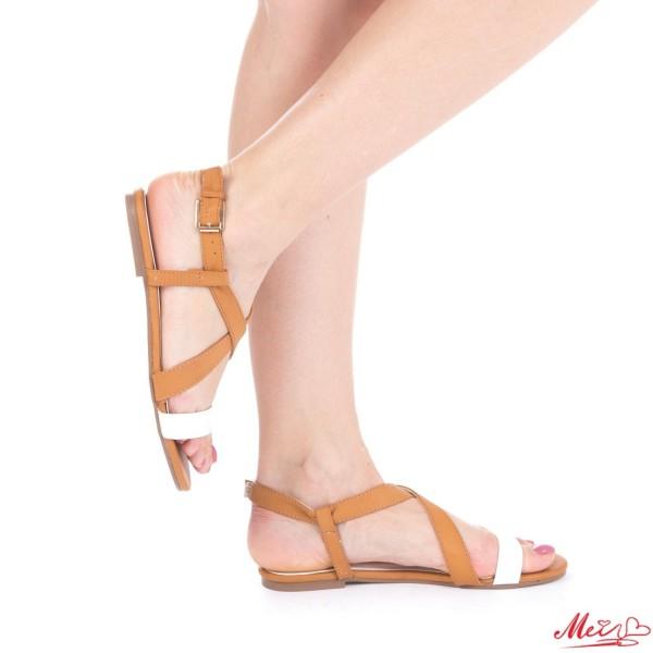 Sandale Dama HL199 White Camel Mei