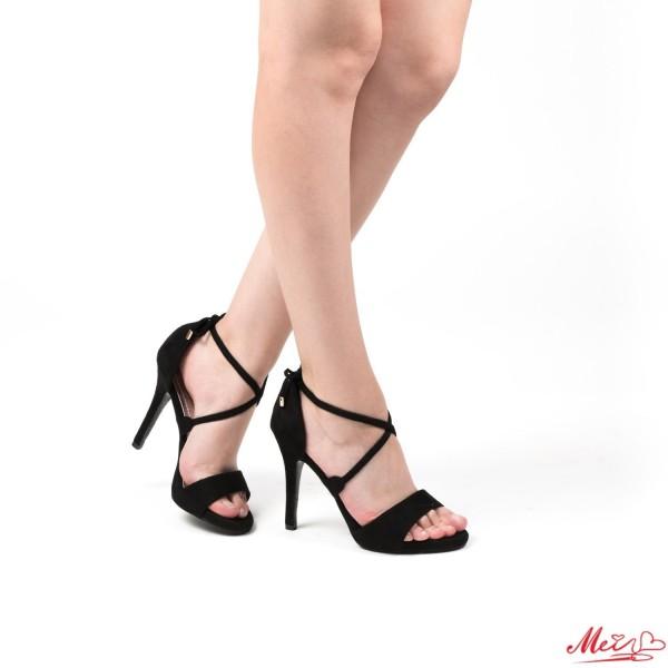 Sandale Dama cu Toc HLX26 Black Mei