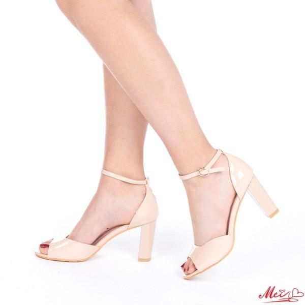 Sandale Dama cu Toc HLX53 Nude Mei