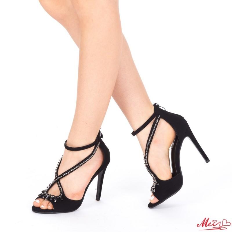 Sandale Dama cu Toc HLX55 Black Mei