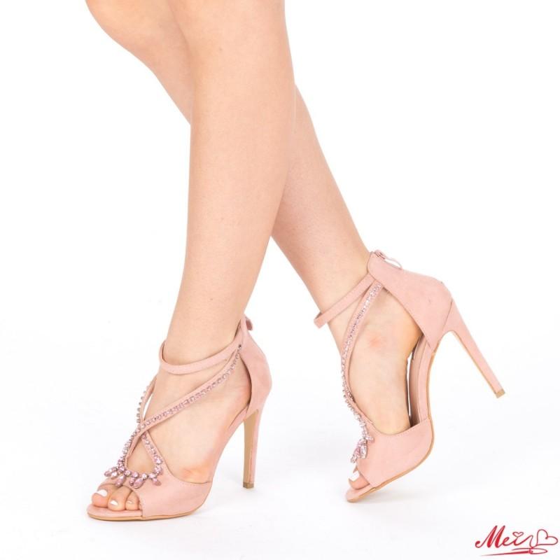 Sandale Dama cu Toc HLX55 Pink Mei