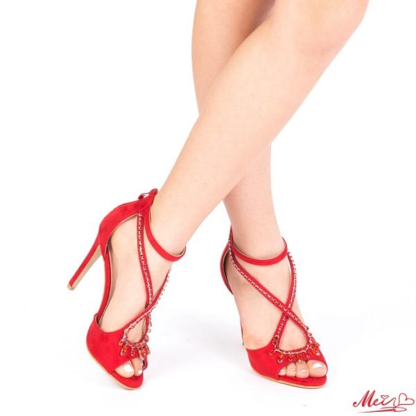 Sandale Dama cu Toc HLX55 Red Mei