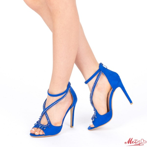 Sandale Dama cu Toc HLX55 Blue Mei
