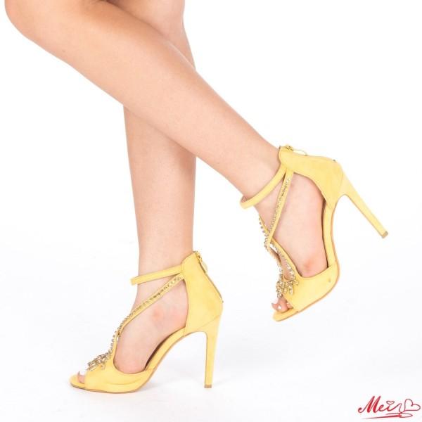 Sandale Dama cu Toc HLX55 Yellow Mei