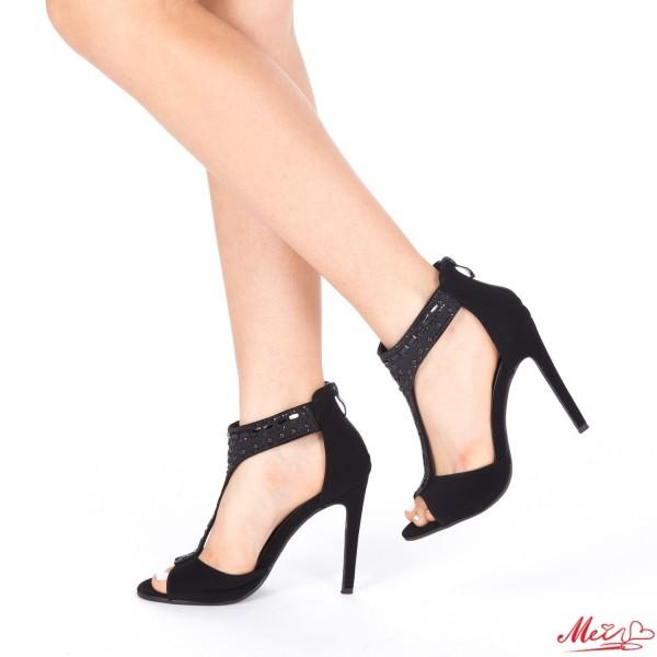 Sandale Dama cu Toc HLX56 Black Mei
