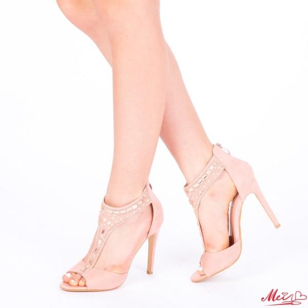 Sandale Dama cu Toc HLX56 Pink Mei