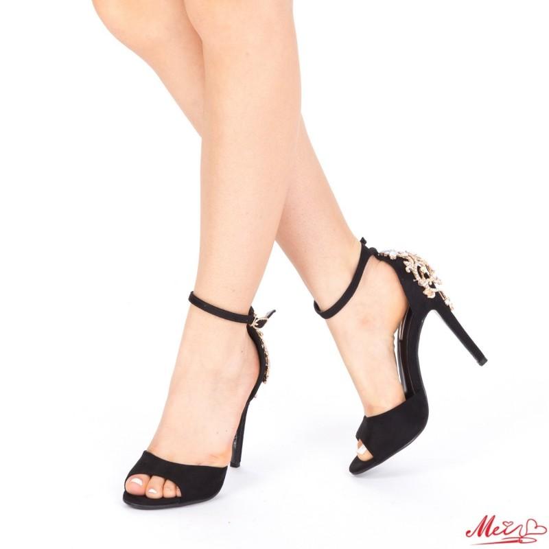 Sandale Dama cu Toc HLX61 Black Mei