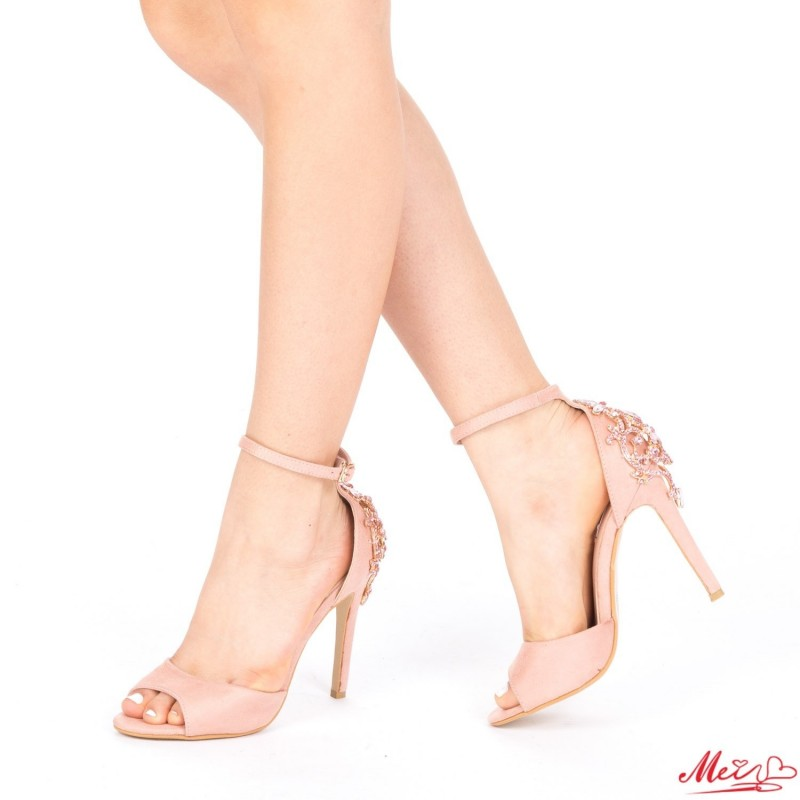 Sandale Dama cu Toc HLX61 Pink Mei