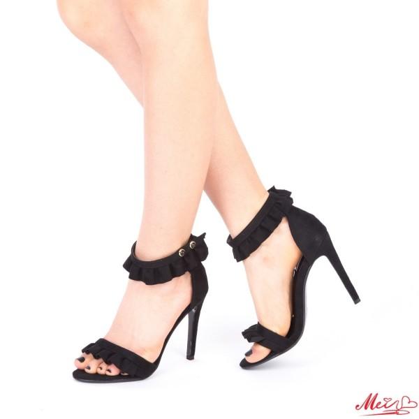 Sandale Dama cu Toc HLX63 Black Mei