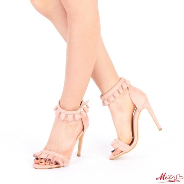 Sandale Dama cu Toc HLX63 Pink Mei