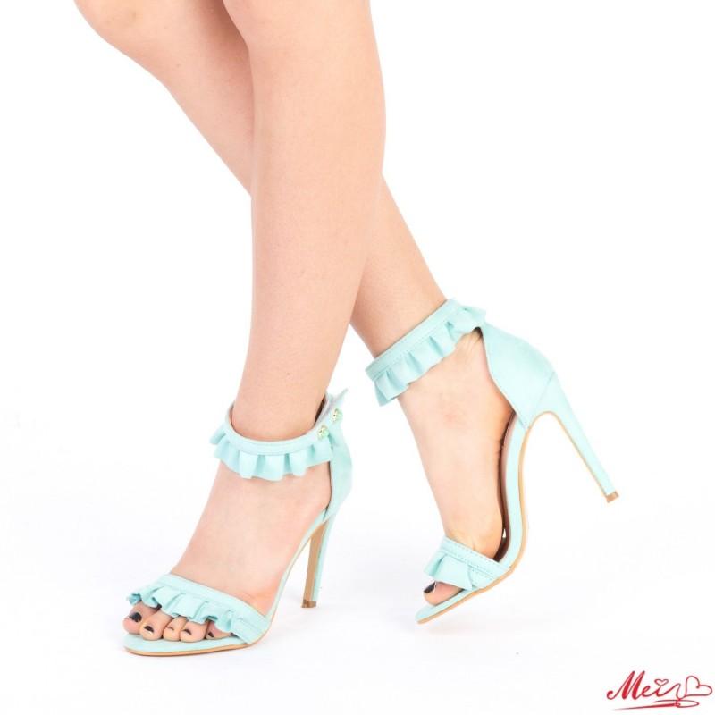 Sandale Dama cu Toc HLX63 Light Blue Mei