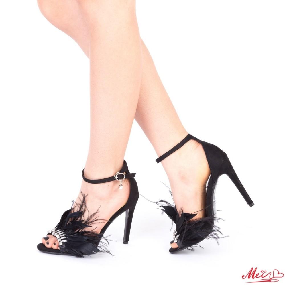 Sandale Dama cu Toc HLX65 Black Mei