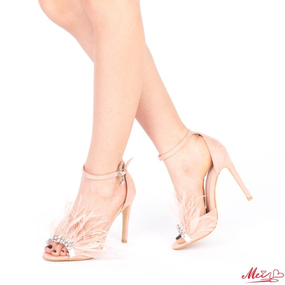 Sandale Dama cu Toc HLX65 Pink Mei