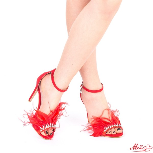 Sandale Dama cu Toc HLX65 Red Mei