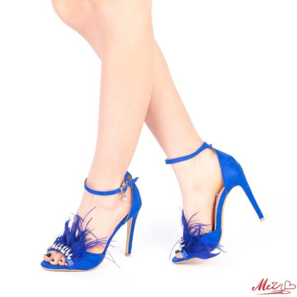 Sandale Dama cu Toc HLX65 Blue Mei