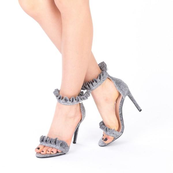 Sandale Dama cu Toc HLX68 Guncolor Mei