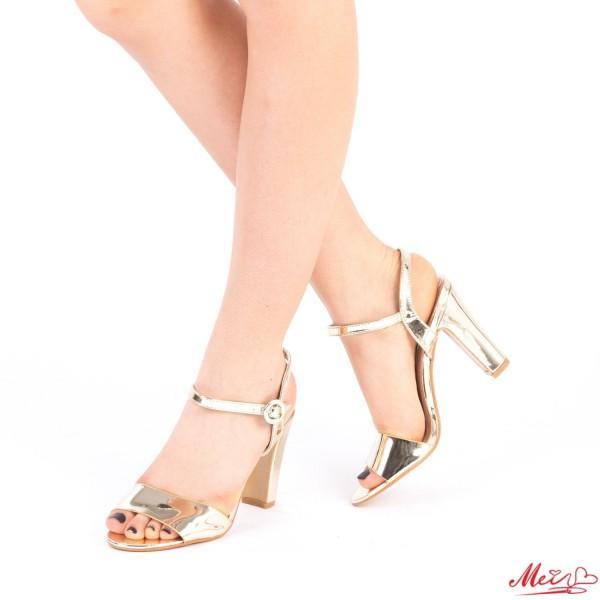 Sandale Dama cu Toc HX2 Gold Mei