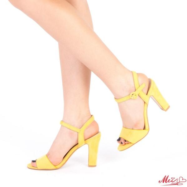 Sandale Dama cu Toc HX2B Yellow Mei
