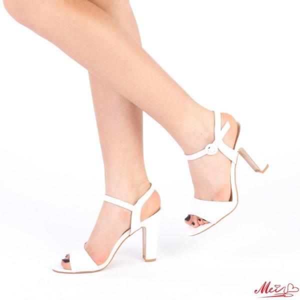 Sandale Dama cu Toc HX2C White Mei