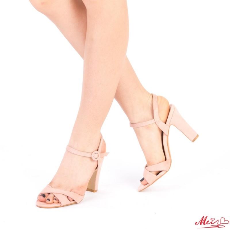 Sandale Dama cu Toc HX5 Pink Mei