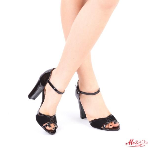 Sandale Dama cu Toc HX6A Black Mei
