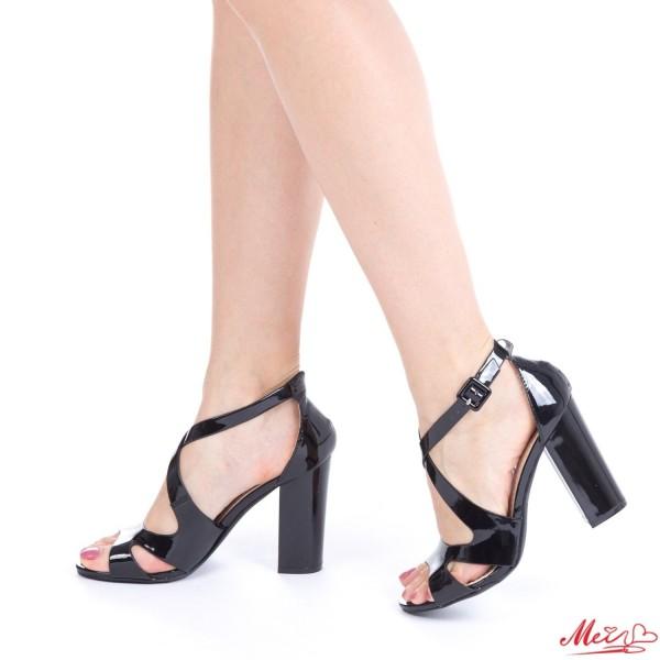 Sandale Dama cu Toc HZ3 Black Mei
