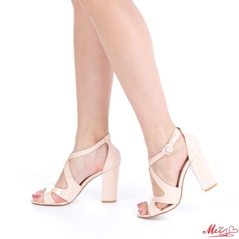 Sandale Dama cu Toc HZ3 Nude Mei