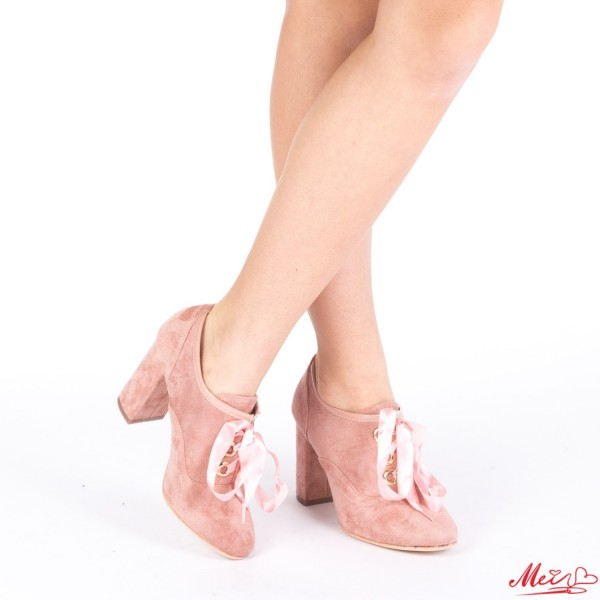 Botine Dama cu Toc HZ8 Pink Mei