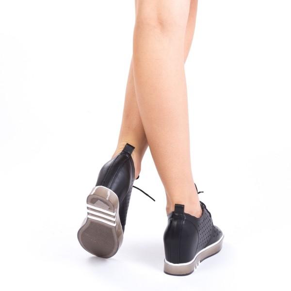 Pantofi Sport Dama cu Platforma K238 Black Mei