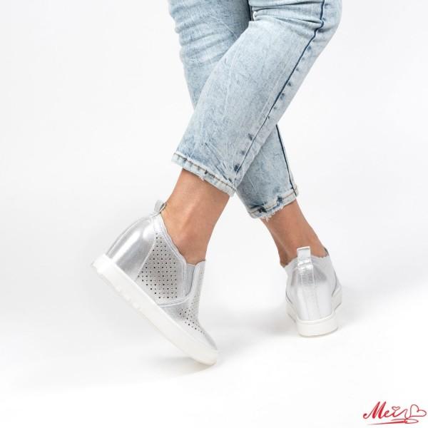 Pantofi Sport Dama cu Platforma K239 Silver Mei