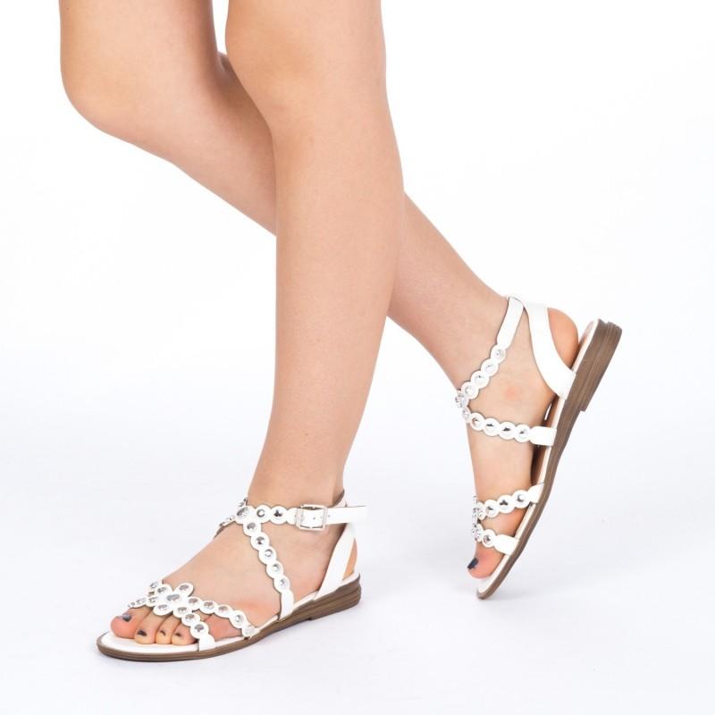 Sandale Dama cu Toc KG6 White Mei
